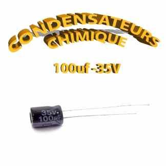 Condensateur chimique 100uF 35V