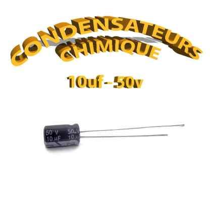 Condensateur chimique 10uF 50V