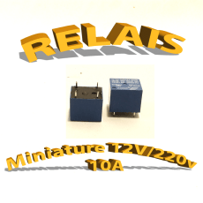 Relais miniature CI 12v/250v 10A