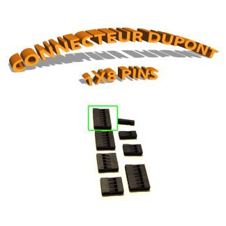 Connecteur Dupont 1x8 Pins