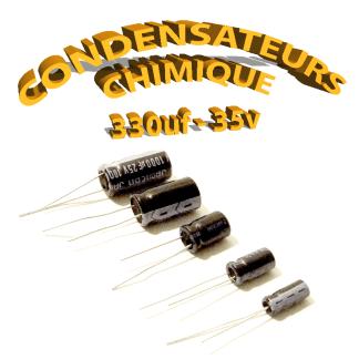 Condensateur chimique 330uF 35V