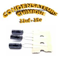 Condensateur chimique 33uF 35V
