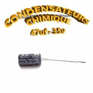 Condensateur chimique 47uF 35V