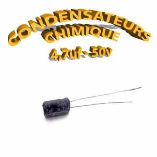Condensateur chimique 4,7uF 50V