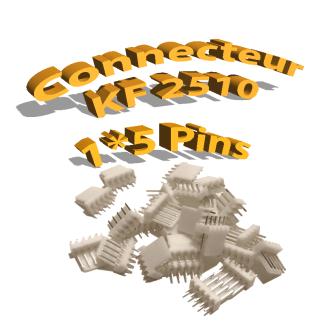Connecteurs KF2510 5 Pins Mâle