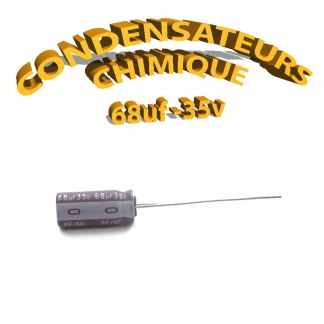 Condensateur chimique 68uF 35V