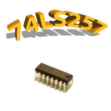 74LS257 - MULTIPLEXEUR QUADRUPLE - DIP16
