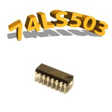 74LS503-Registre à 8 bits- DIP16