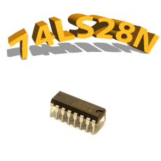 74LS28n - QUAD 2-INPUT NOR BUFFER - DIP14