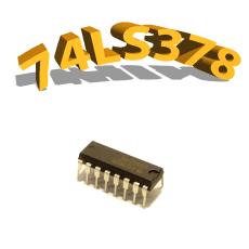 74LS378 - Registre de 6 bits - DIP20