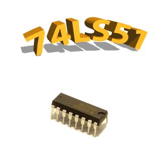 74LS51- porte logique - DIP14