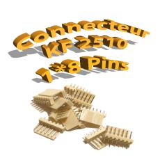 Connecteurs KF2510 8 Pins Mâle