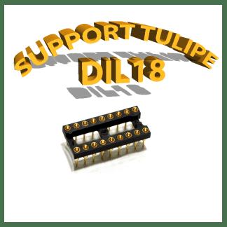Support tulipe - DIL 18 Noir