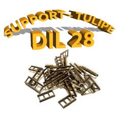 Support tulipe - DIL 28 noir