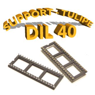 Support tulipe - DIL 40 Noir