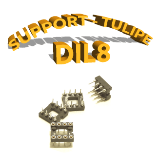 Support tulipe - DIL 8 Noir