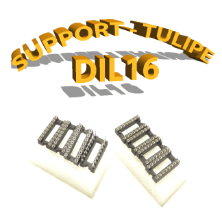 Support tulipe - DIL 16 Noir