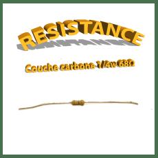 Résistance 68 ohm à couche Carbone 1/4W