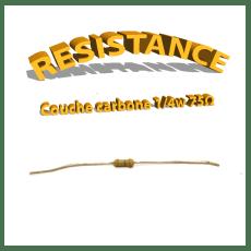 Résistance 75 ohm à couche Carbone 1/4W