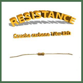 Résistance 82 ohm à couche Carbone 1/4W