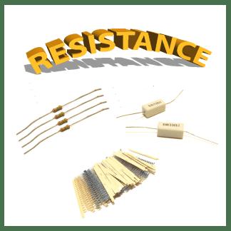 Résistances, carbone, Résistance métallique, cémenté, cms
