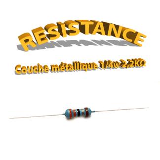 Résistance 2,2 Kohm métallique