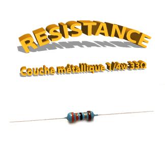 Résistance 33 ohm métallique