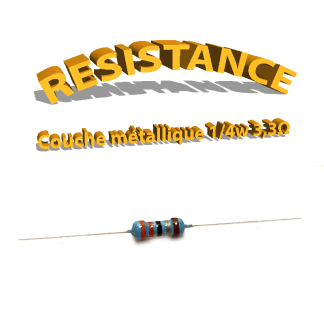 Résistance 3,3 ohm métallique