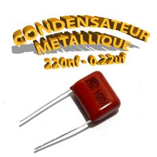 Condensateur à film 220nF 0.22uf 630V