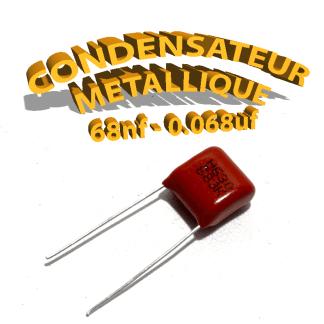 Condensateur à film 68nF 0.068uf 630V