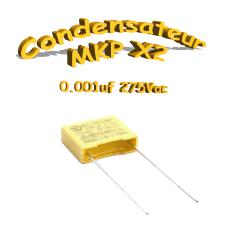 Condensateur Polypropylène MKP x2 1nf-0.001uf 275Vac
