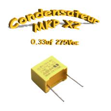 Condensateur Polypropylène 330nf .33uf MKP x2 275Vac