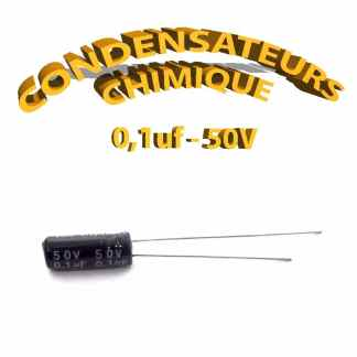 Condensateur chimique 0,1uF 50V
