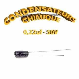 Condensateur chimique 0,22uF 50V