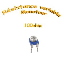 résistance variable mono-tours 100ohm, Potentiomètre ajustable 100ohm