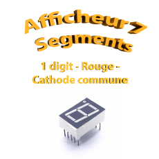 Afficheur 7 segments Rouge - 13x19mm