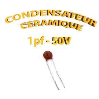 Condensateur Céramique 1pf - 1 - 50V