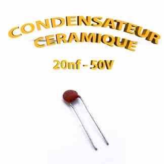 Condensateur Céramique 20nf - 203 - 50V