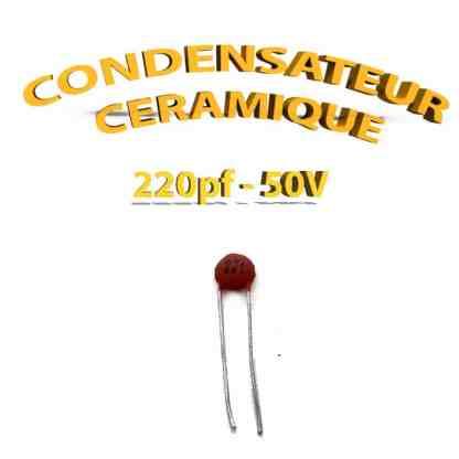 Condensateur Céramique 220pf - 221 - 50V