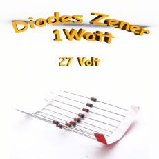 Diode Zener 27V - 1W - 1N4750A