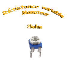 résistance variable mono-tours 2kohm, Potentiomètre ajustable 2kohm