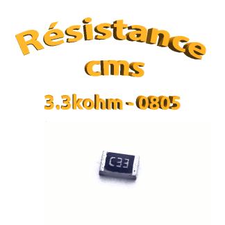 resistance cms 0805 3.3kohm