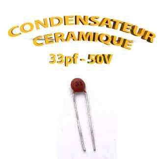 Condensateur Céramique 33pf - 33 - 50V