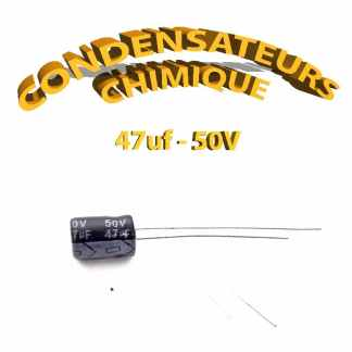 Condensateur chimique 47uF 50V