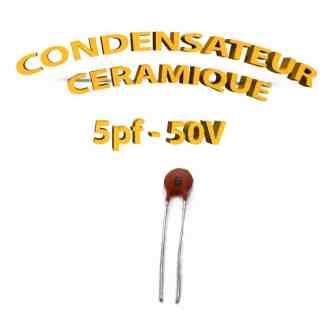 Condensateur Céramique 5pf - 5 - 50V