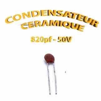 Condensateur Céramique 820pf - 821 - 50V