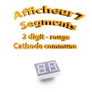 Afficheur 7 segments Rouge 2 digits - 25x19mm