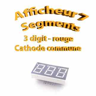 Afficheur 7 segments Rouge 3 digit- 37x19mm