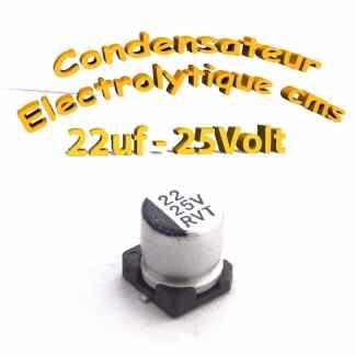 Condensateur électrolytique CMS - SMD 22uF 25V