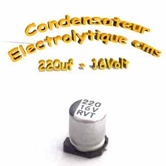 Condensateur électrolytique CMS - SMD 220uF 16V